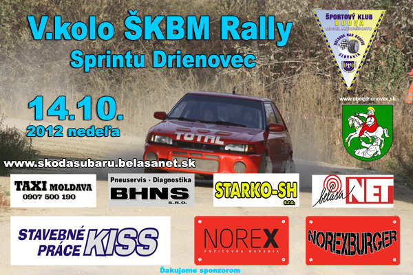 Rally Sprint Drienovec