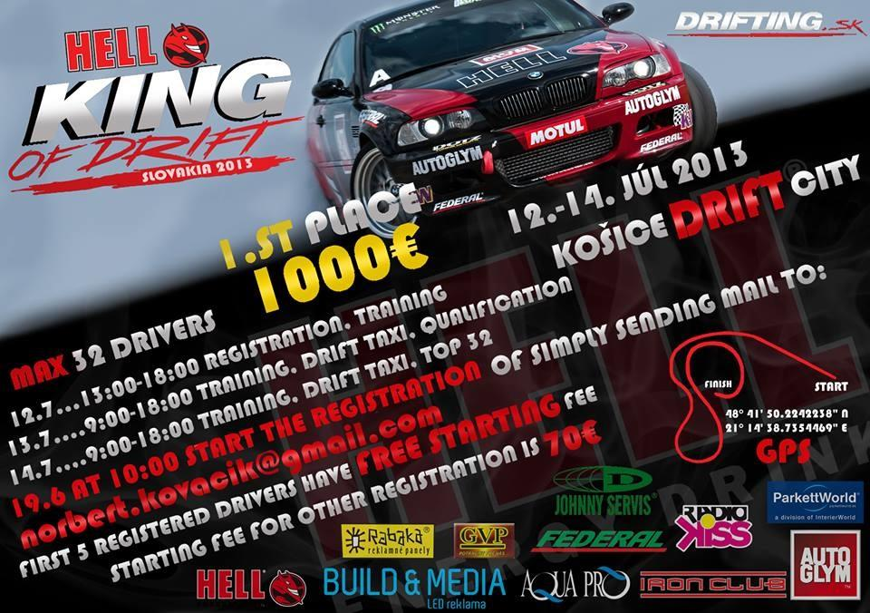 1. Hell King Of Drift Slovakia 2013